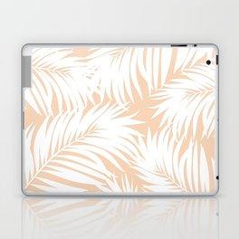 Palm Tree Fronds White on Peach Hawaii Tropical Décor Laptop & iPad Skin