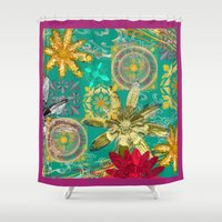 baroque Shower Curtains featuring BAROQUE by PRIMKASTUDIO