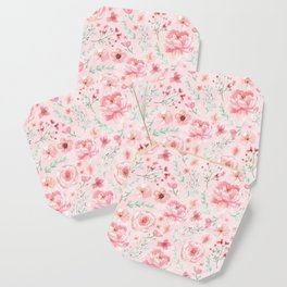 Pink Sweety Floral Coaster