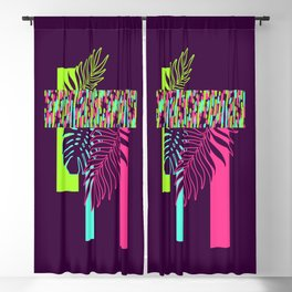 Neon Exotic #society6 #tropical Blackout Curtain