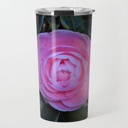 Pink Camellia Flower Blossom Travel Mug