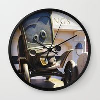 stanley kubrick Wall Clocks featuring Stanley by Around The Park