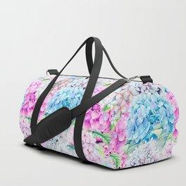 Multicolor Watercolor Hydrangea dream pattern Duffle Bag