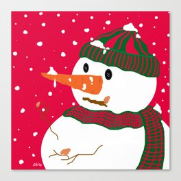 Snowman-Christmas Series Canvas Print