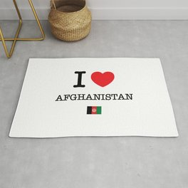I Love Afghanistan Rug