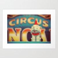 dumbo Art Prints featuring Dumbo by Teodoru Badiu