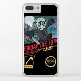 Super Voorhees Bros Clear iPhone Case