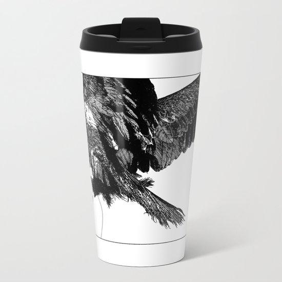 asc 636 - La fauconnière (Bird of prey) Metal Travel Mug