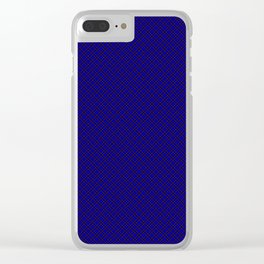 Scottish Fabric High resolution blue Clear iPhone Case