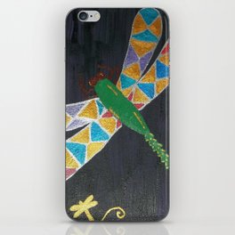 Stained Glass Dragonfly iPhone Skin