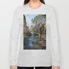 Alone in Secret Hollow with the Caves, Cascades, and Critters - Approaching the Falls Long Sleeve T-shirt