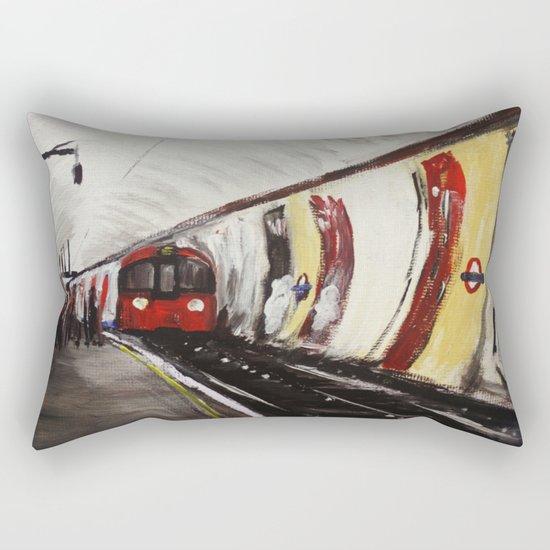 London Underground Wood Green Rectangular Pillow