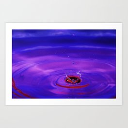 Fear - Emotions Water Drop Photography Art Print