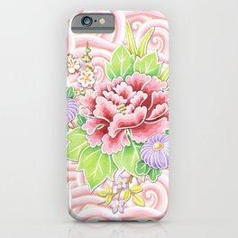 Pink Kimono Bouquet iPhone Case