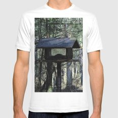 The Bird House White MEDIUM Mens Fitted Tee