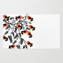orange birds Rug