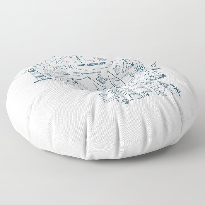 Wisconsin Up North Collage Floor Pillow
