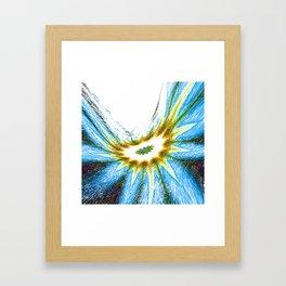 La fleur de la route Framed Art Print