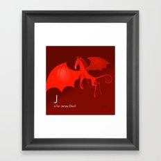 J is for Jersey Devil Framed Art Print