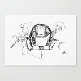 Warbot Sketch #020 Canvas Print