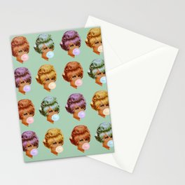 Bubble Blowers - green Stationery Cards