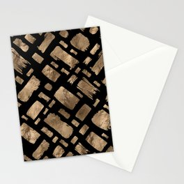 Gold Paint Strokes on Gold 1 Stationery Cards