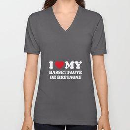 Basset Fauve de Bretagne Unisex V-Neck