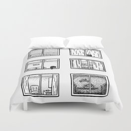 Every Window is A Story Duvet Cover