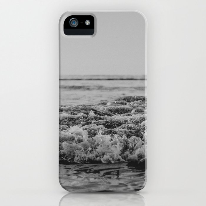 Black and White Pacific Ocean Waves iPhone Case