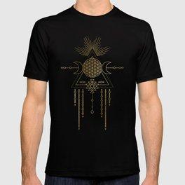 Golden Goddess Mandala T-shirt
