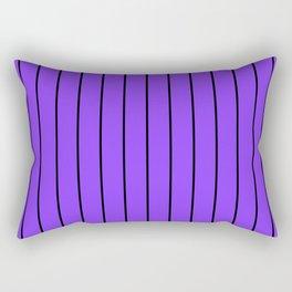 Thin Lines - Black & Aztech Purple Rectangular Pillow