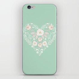 Nebula Pink Heart iPhone Skin