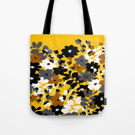 SUNFLOWER TOILE YELLOW GOLD BLACK GRAY AND WHITE Tote Bag