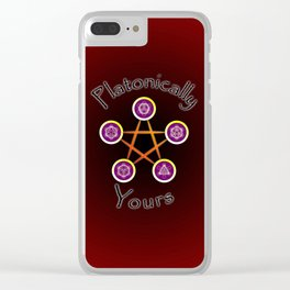 Platonically Yours Clear iPhone Case