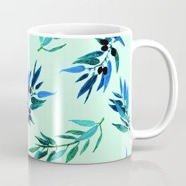Olive leaves blue Coffee Mug