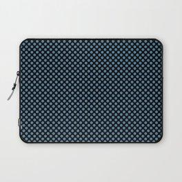 Black and Niagara Polka Dots Laptop Sleeve