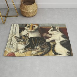 Cat and Kittens, by Anonymous, c. 1872-83 Rug
