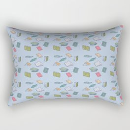 Books on Books (colorful squares) Rectangular Pillow