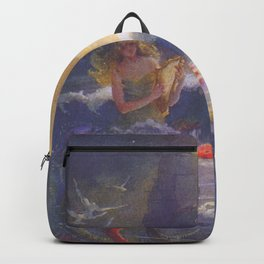 Mermaids and a Ship by Gertrude Alice Kay Backpack