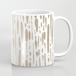 White Gold Sands Modern Vertical Dotted Lines Coffee Mug