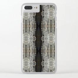 Oak Tree Bark Vertical Pattern by Debra Cortese Designs Clear iPhone Case