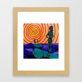 Green People :: Walk Away Framed Art Print