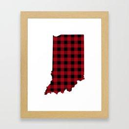 Indiana - Buffalo Plaid Framed Art Print