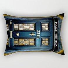 Tardis doctor who Mashup with sherlock holmes 221b door Rectangular Pillow