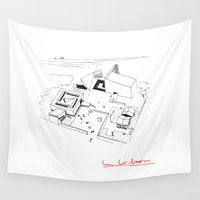 architect Wall Tapestries featuring Le Corbusier The Architect by Rothko