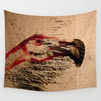 flamingo Wall Tapestries featuring Flamingo by Fernando Vieira