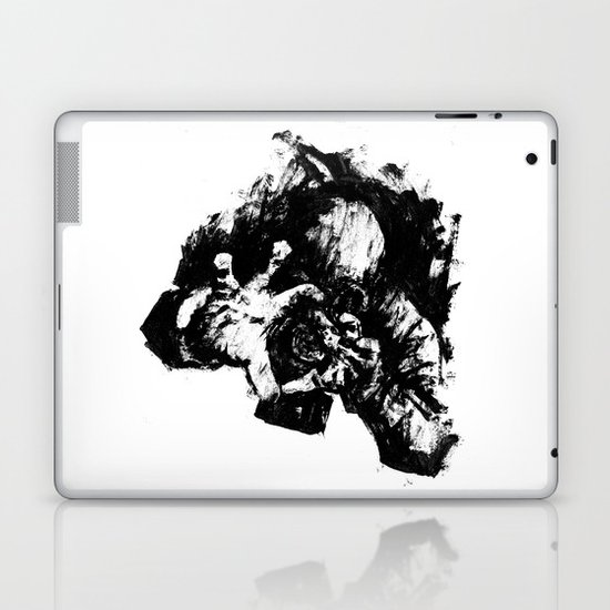 Leroy (Messy Ink Sketch) Laptop & iPad Skin