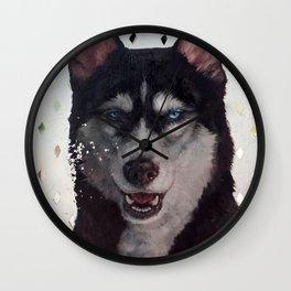 Siberia [ oil on mirror ] Wall Clock