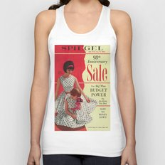 1963 - 98th Anniversary Sale -  Summer Catalog Cover Unisex Tank Top