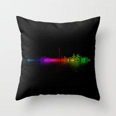 Toronto Rainbow Reflection Throw Pillow